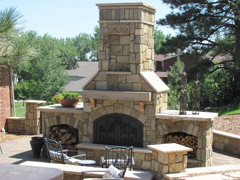 Outdoor Fireplace Aspen Ridge Lawn & Landscape Rapid City, SD