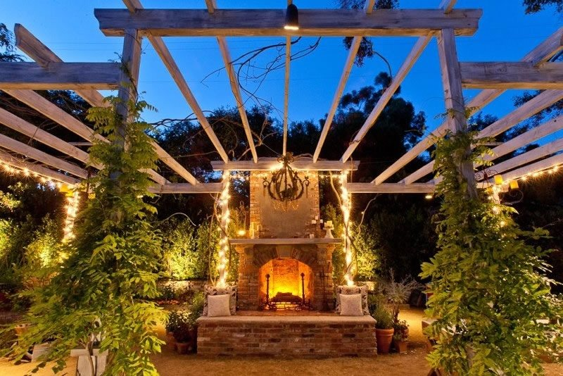 Beautiful Outdoor Fireplace Outdoor Fireplace Alastair Boase Landscape Design, LLC Sherman Oaks, CA