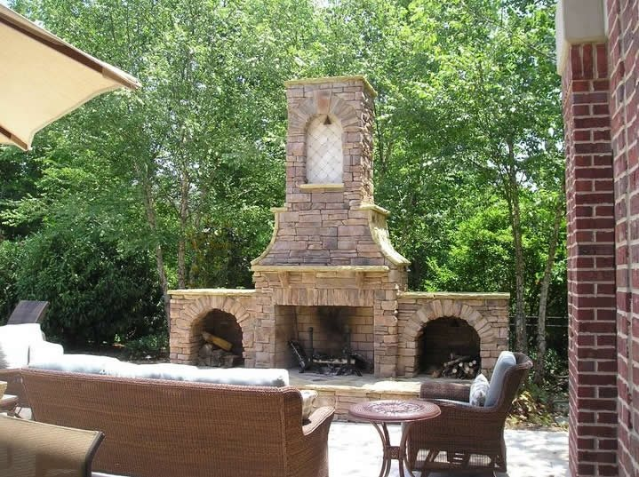Outdoor fireplace chattanooga tn photo gallery Deck fireplace designs