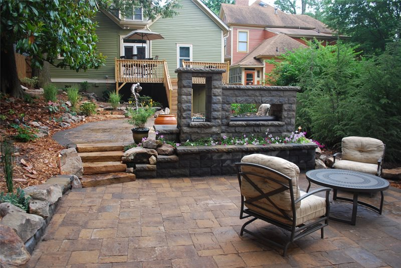 Euro Outdoor Fireplace Outdoor Fireplace FernGully Landscapes Hoschton, GA