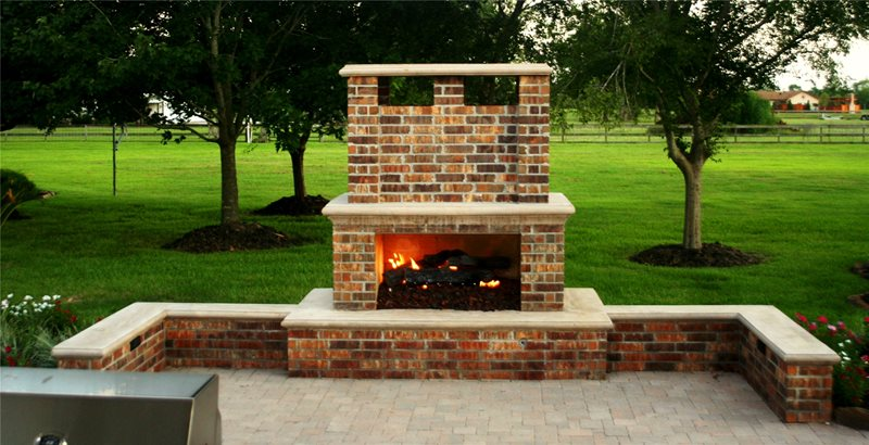 Fireplace Seat Walls Outdoor Fireplace Lightfoot Landscapes, Inc. Houston, TX