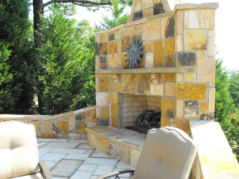 giant fieldstone fireplace | Outdoor Fireplace - Leeds, AL - Photo Gallery ...