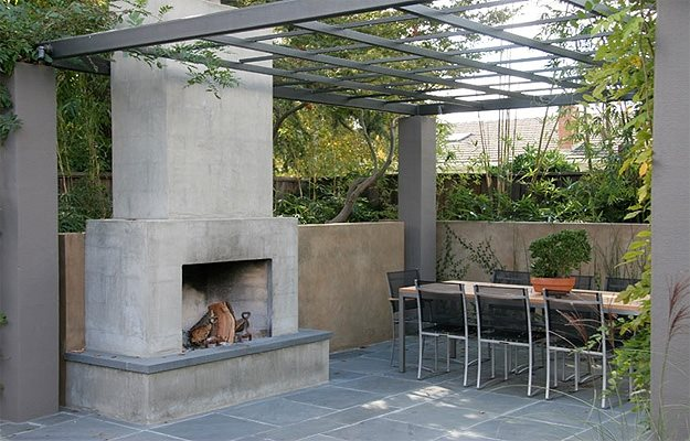 Outdoor Fireplace Photo Gallery Landscaping Network