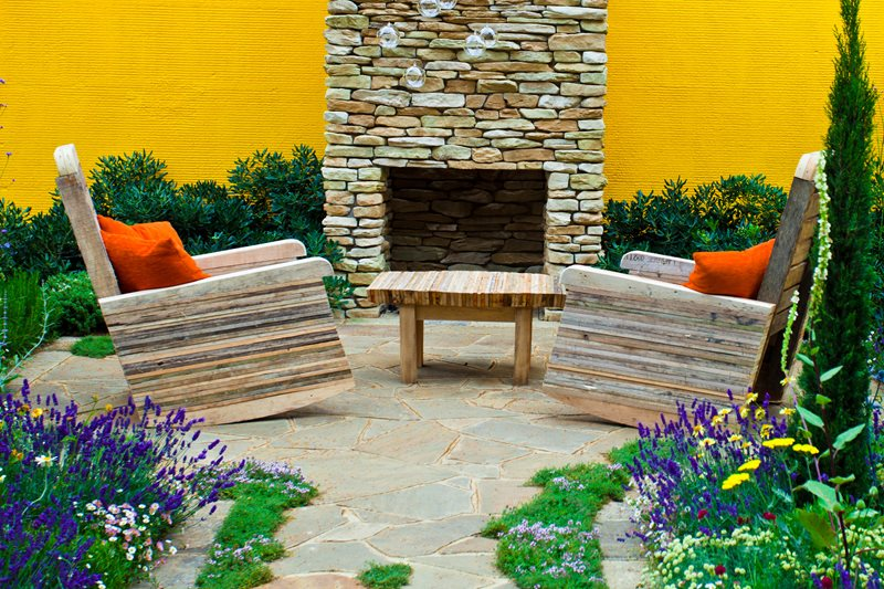 Modern Outdoor Stone Fireplace Outdoor Fireplace Landscaping Network Calimesa, CA