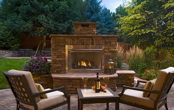 Outdoor Fireplace Insert Outdoor Fireplace American Design & Landscape Parker, CO
