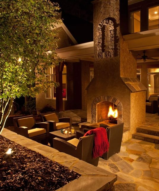 Outdoor Fireplace Patio Outdoor Fireplace J'Nell Bryson Landscape Architecture Charlotte, NC