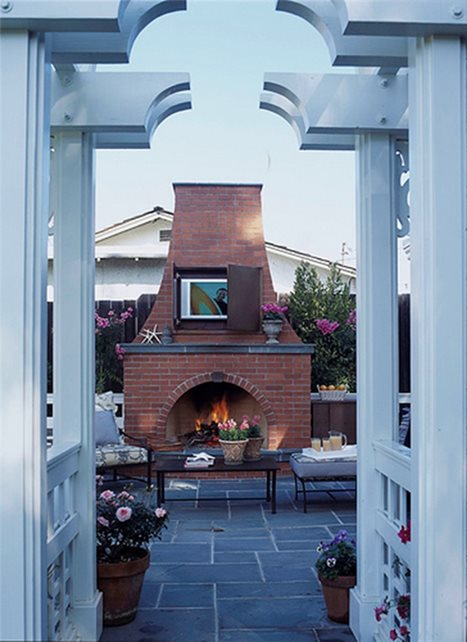 Gentil Outdoor Tv, Patio Fireplace Outdoor Fireplace David Reed Landscape  Architects San Diego, CA