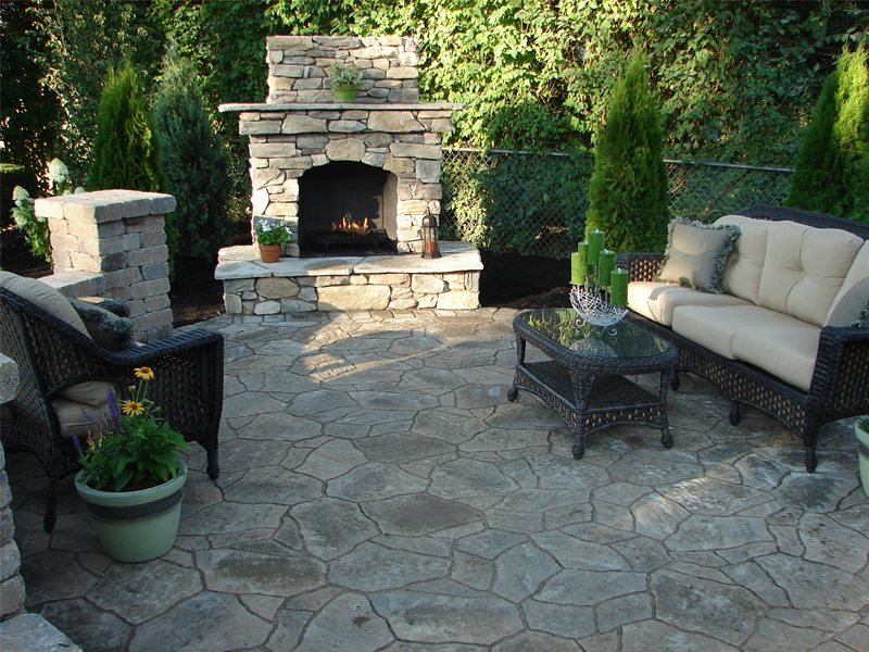 Outdoor Fireplace S.A.T. Landscape Services Columbus, OH