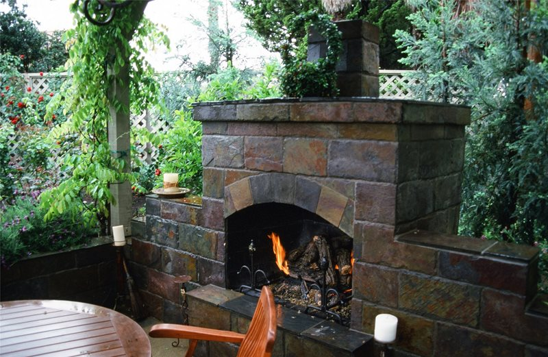 Small Outdoor Fireplace Outdoor Fireplace Maureen Gilmer Morongo Valley, CA
