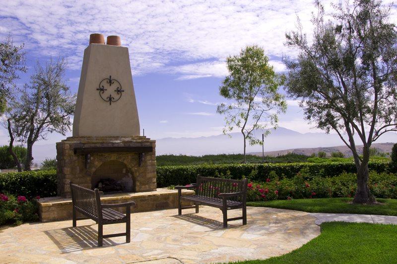 Southwest Outdoor Fireplace, Stone Stucco Fireplace Outdoor Fireplace Landscaping Network Calimesa, CA