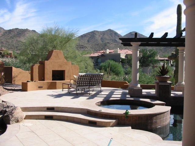 Outdoor fireplace sedona az photo gallery for Southwestern fireplaces