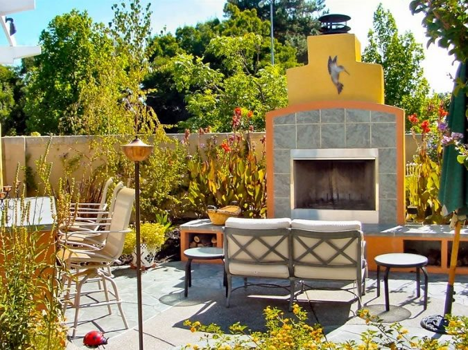 Outdoor fireplace pleasanton ca photo gallery for Spanish outdoor fireplace