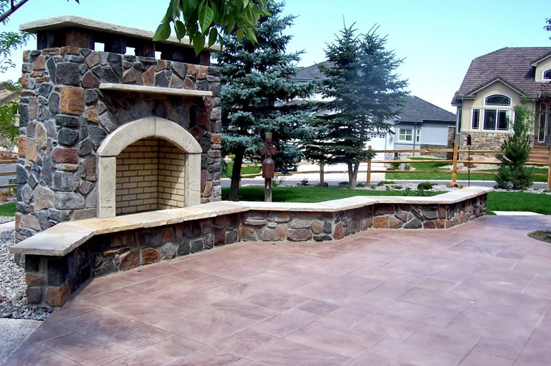 Wood Burning Outdoor Fireplace Outdoor Fireplace Black Forest Landscape Design Studio Arvada, CO