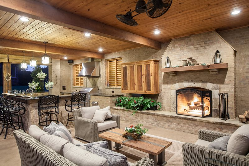 Outdoor fireplace brandon ms photo gallery - Outdoor living spaces with fireplace ...