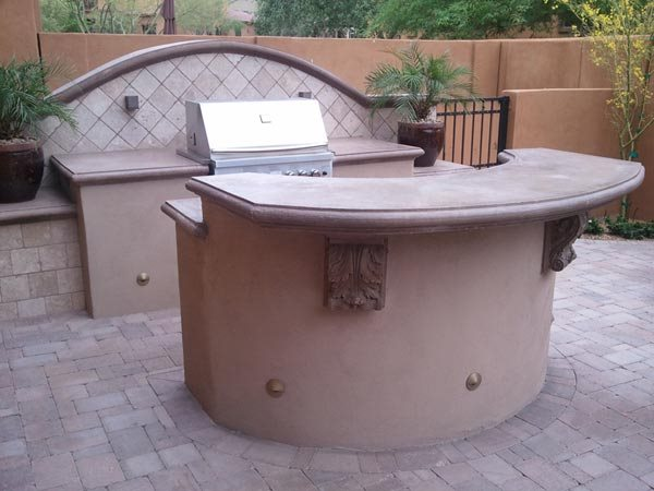Bbq Counter, Bbq Bar Outdoor Kitchen Lone Star Landscaping Phoenix, AZ