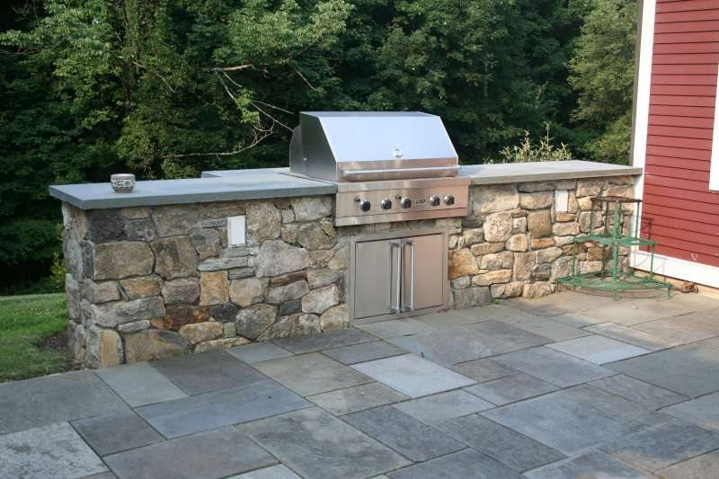 Built-In Stainless Steel Grill Outdoor Kitchen Neave Group Outdoor Solutions Wappingers Falls, NY