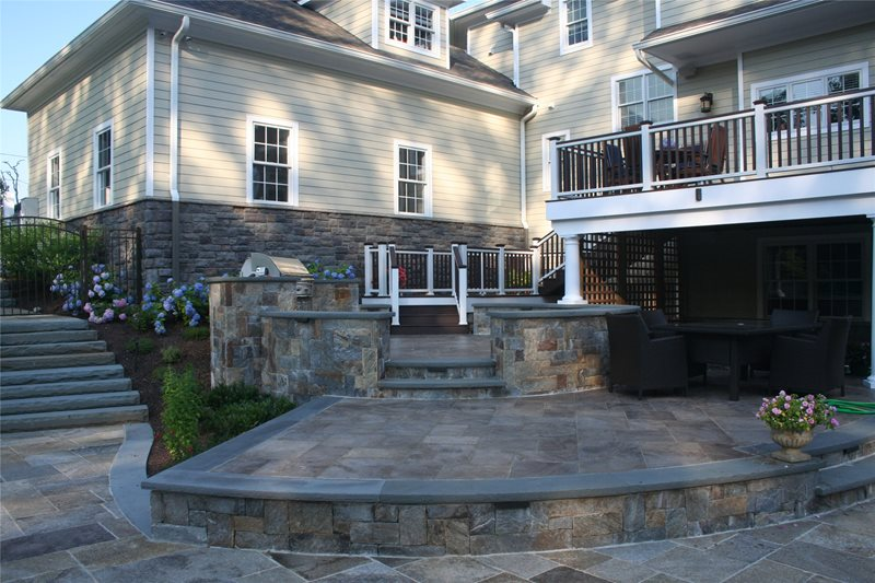 Circular Outdoor Kitchen Outdoor Kitchen Neave Group Outdoor Solutions Wappingers Falls, NY