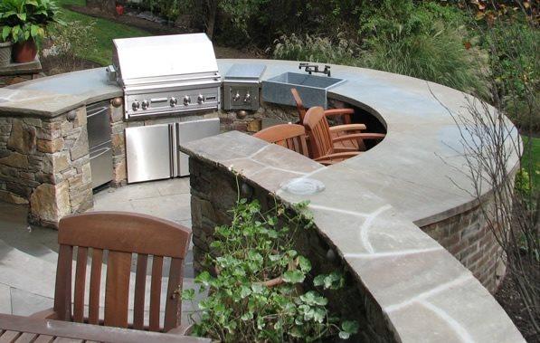 Circular Outdoor Kitchen Outdoor Kitchen Summerset Gardens Warwick, NY