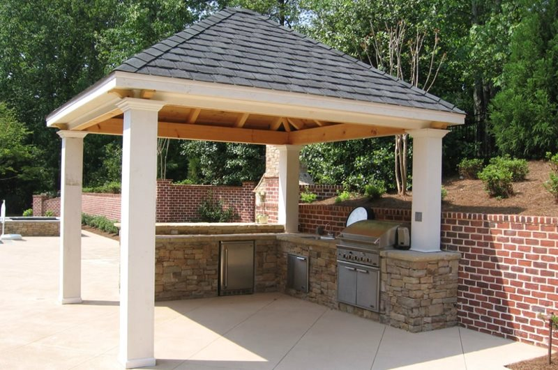 covered outdoor kitchen structures outdoor grill covered outdoor kitchen outside landscape group llc alpharetta ga photo gallery landscaping network