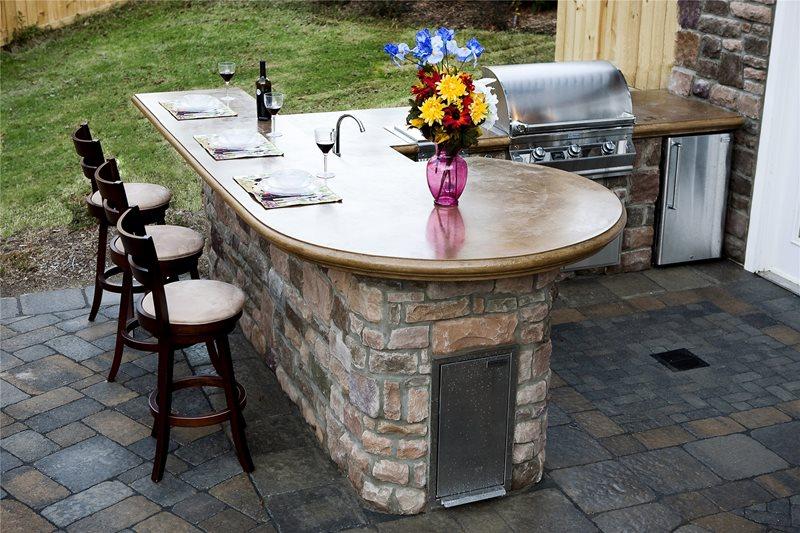 outdoor concrete countertopsoutdoor kitchenmid atlantic enterprise