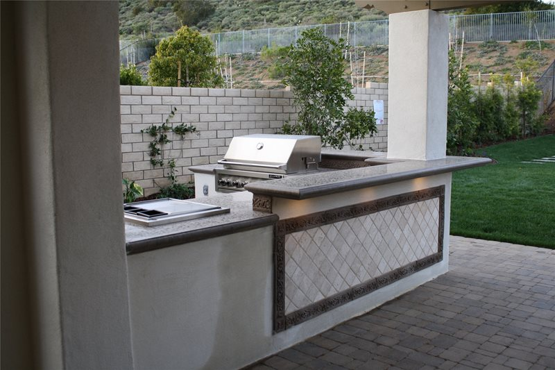 Outdoor Concrete Countertops Outdoor Kitchen The Green Scene Chatsworth, CA