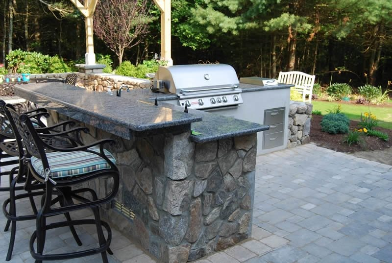 Outdoor Granite Countertops Outdoor Kitchen The Gardeners Kingston, MA