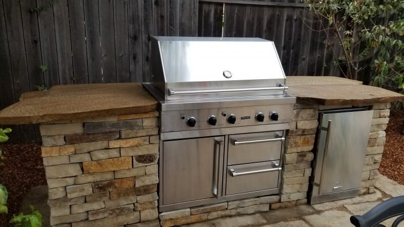 Outdoor Kitchen Island, Built In Grill Outdoor Kitchen Greener Environments Los Osos, CA