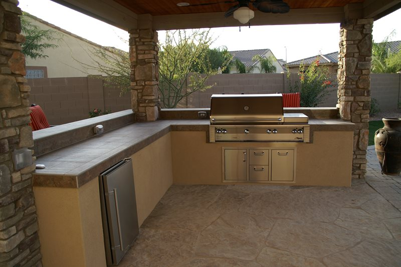 Outdoor Kitchen Pergola Outdoor Kitchen Alexon Design Group Gilbert, AZ
