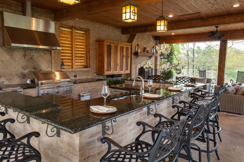 Split Level Outdoor Kitchen Outdoor Kitchen Outdoor Solutions Brandon, MS