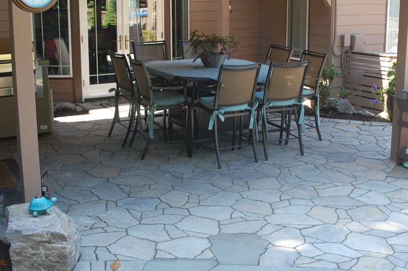 Faux Stone Pavers, Faux Stone Patio Patio Ross NW Watergardens Portland, OR