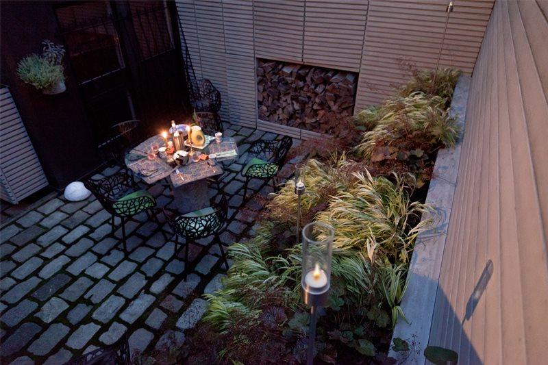 Modern Courtyard Garden Patio Matthew Cunningham Landscape Design Melrose, MA