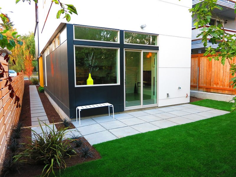 Modern Grid Patio True Scape Design Seattle, WA
