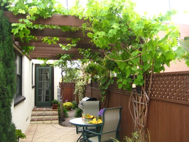 Narrow Patio With Trellis Patio Landscaping Network Calimesa, CA