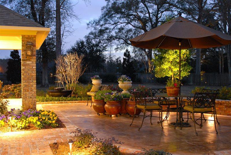 Patio Lighting Patio Angelo's Lawn-Scape Of Louisiana Inc Baton Rouge, LA