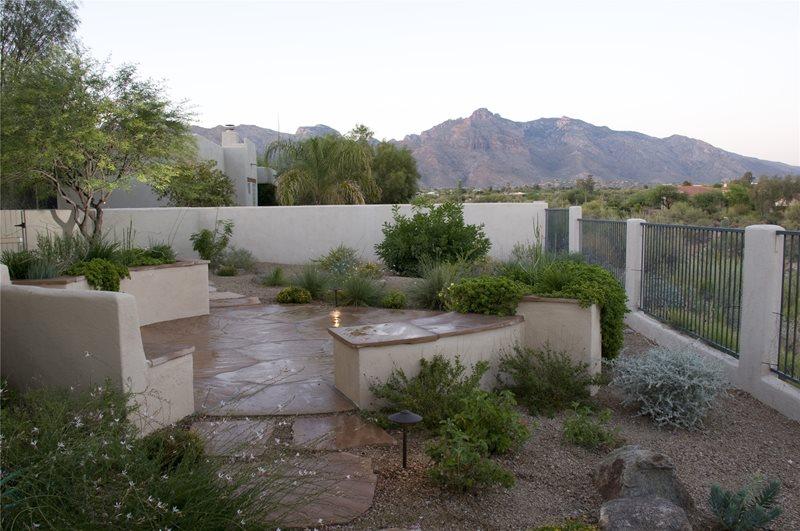 Patio Walls, Round Patio Patio Casa Serena Landscape Designs LLC Las Cruces, NM