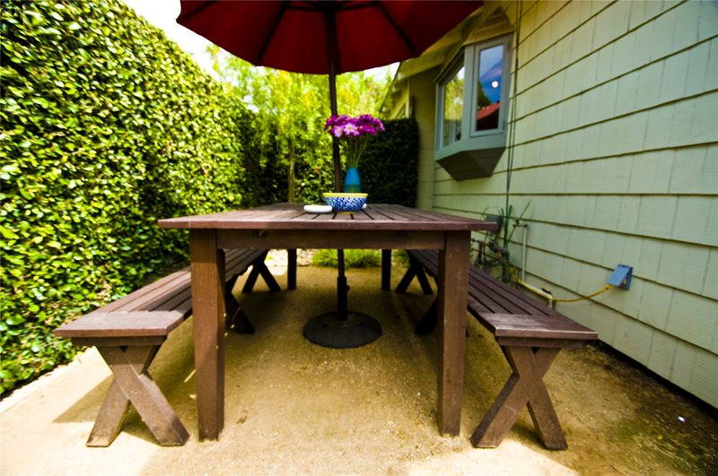 Patio With Bench Eating Area Patio Landscaping Network Calimesa, CA