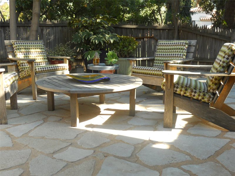 Patio With Flagstone Look Patio Landscaping Network Calimesa, CA