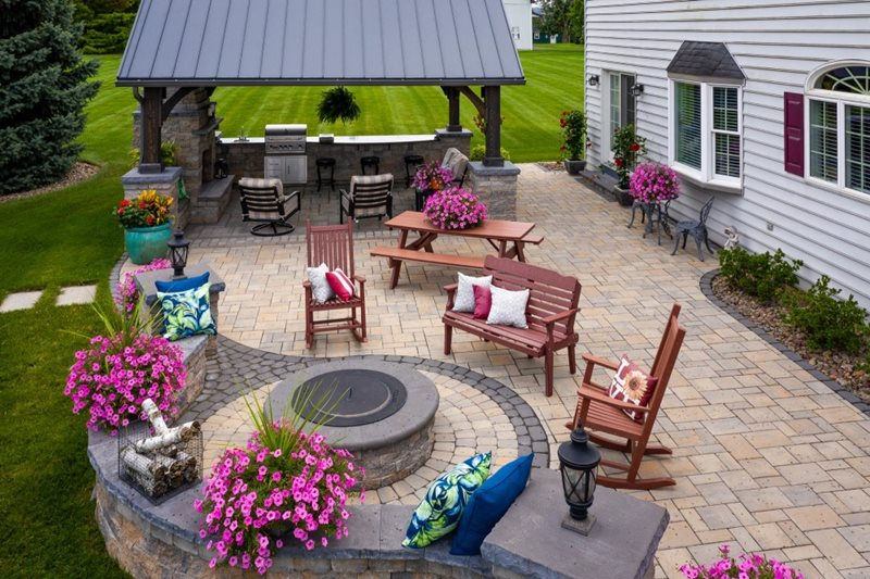 Patio With Pavillion Patio Willow Gates Landscaping Mohnton, PA