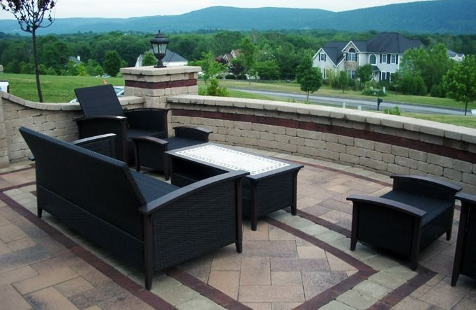 Paver Patio, Rug Design Patio Lehigh Lawn & Landscaping Poughkeepsie, NY