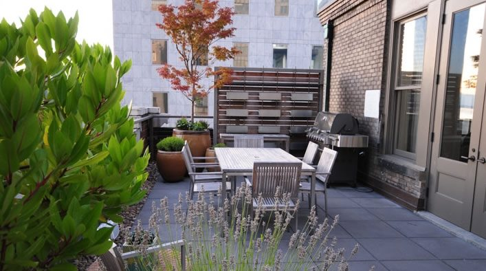 Rooftop Garden Patio Patio Allworth Design Landscape Architects Seattle, WA