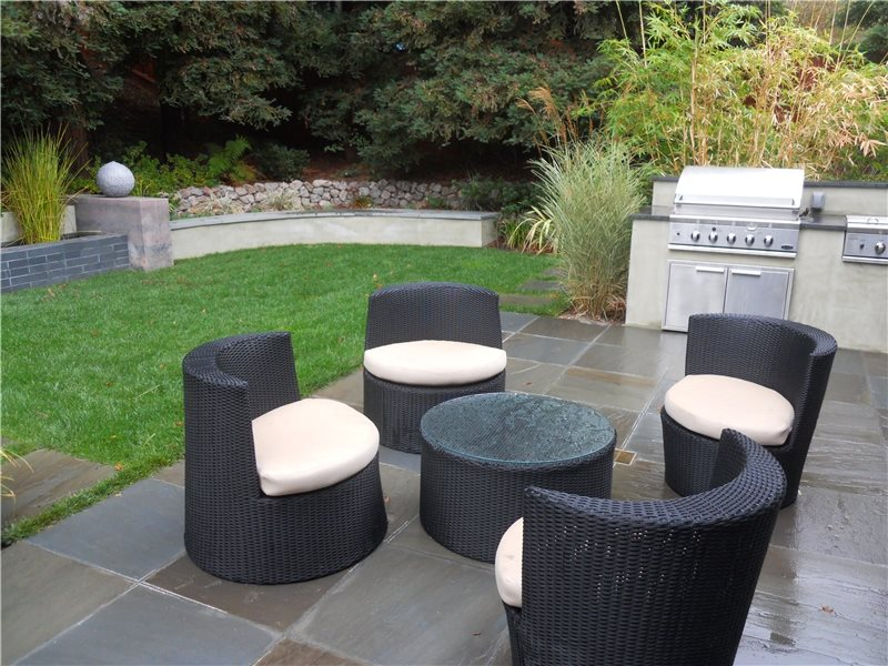 Slate Patio, Patio Furniture Patio Huettl Landscape Architecture Walnut Creek, CA