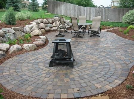 Circular Paver Patio Paver Patio Mickman Brothers Ham Lake, MN