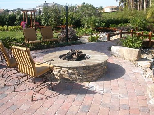 Fire Pit Paver Patio Landscaping Network Calimesa, CA