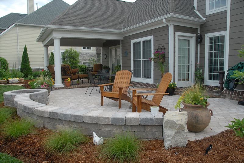 Grey Paver Patio Paver Patio Inside Out Design, LLC Frankfort, KY