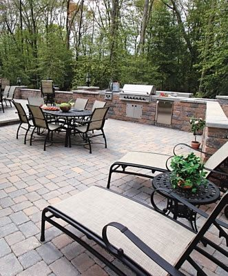 Outdoor Kitchen Pavers Paver Patio StoneScapes Design Hanover, MD