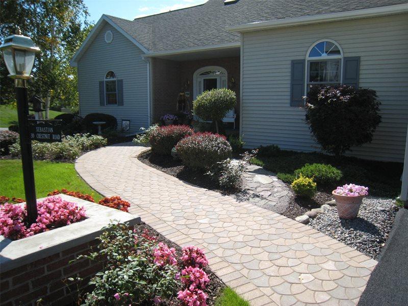 Front Path Paver Walkway Stone Age Landscaping LLC New Hartford, NY