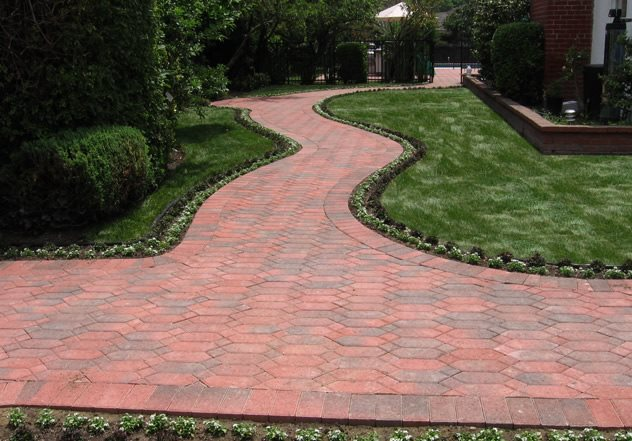 ... Hexagonal Pavers Red Pavers Paver Walkway Genesis Stoneworks Moorpark  Ca ...