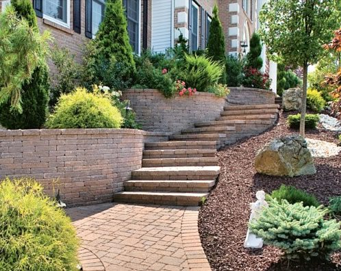 Paver Stairs, Paver Treads Paver Walkway StoneScapes Design Hanover, MD