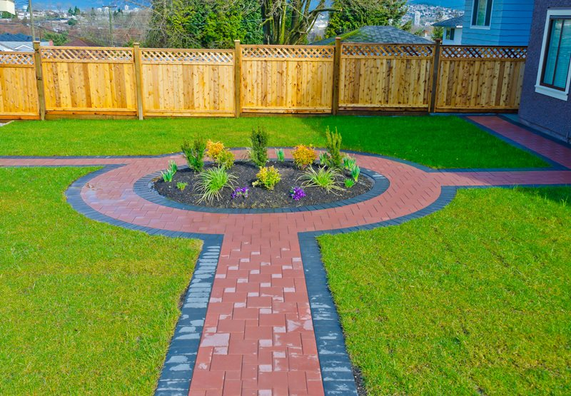 Red Paver Walkway Paver Walkway Landscaping Network Calimesa, CA