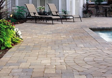 Paver Pool Deck, Brown Pavers Paver StoneScapes Design Hanover, MD